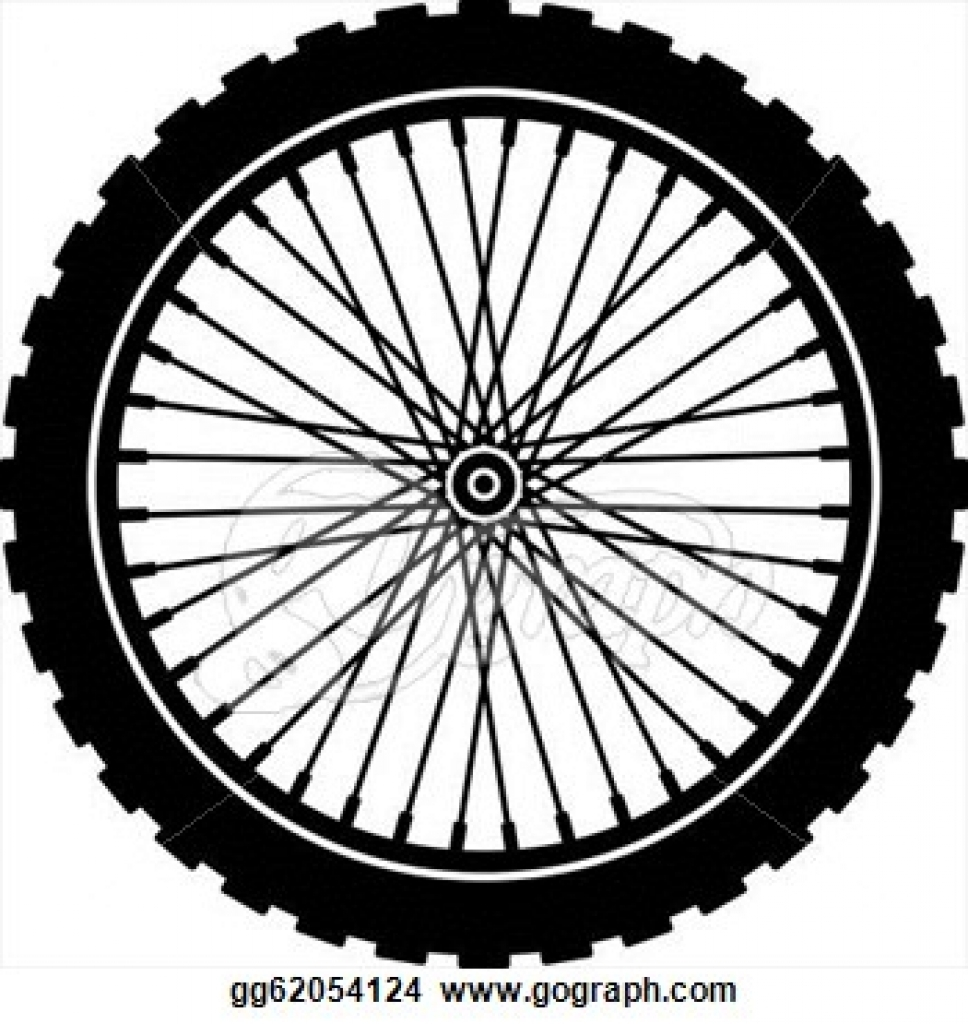 Bike tire clipart.