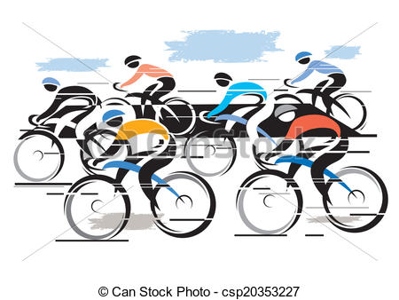 Vector Illustration of Cycle race peleton.