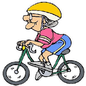 Bike riding clip art.