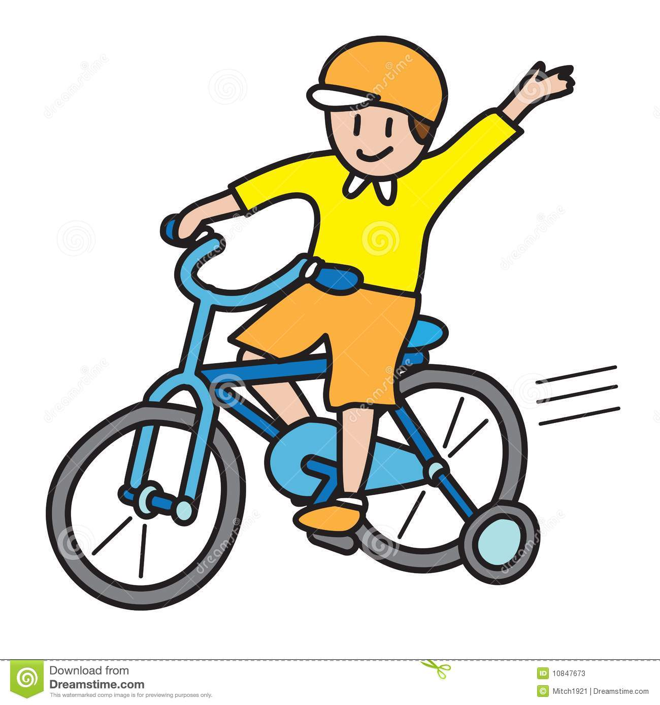 Riding Bike Rider Clipart.