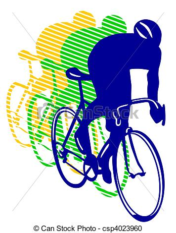 Bicycle Racing Clipart.