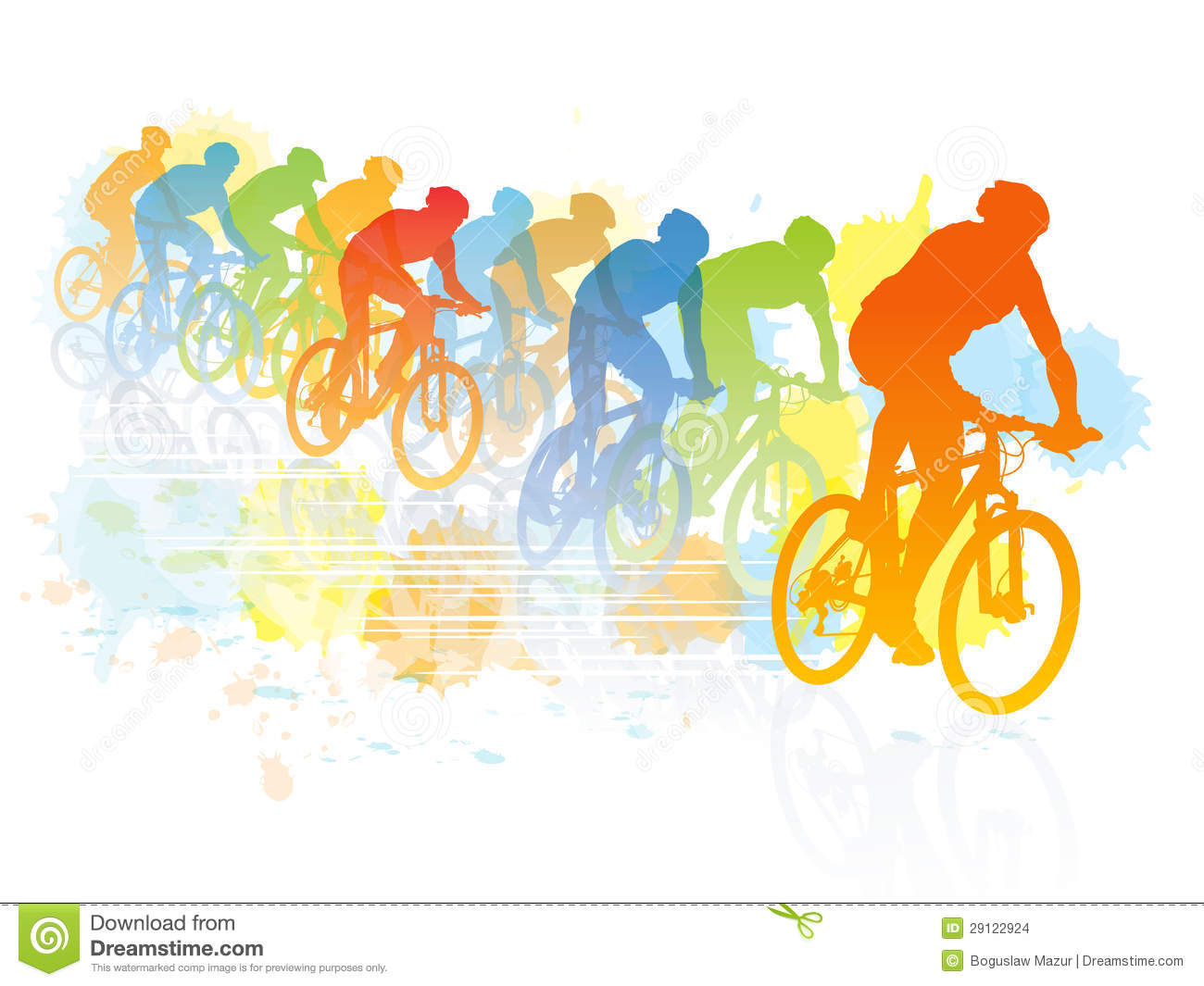 Cycling races clipart ...