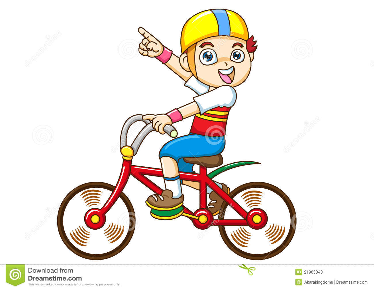 Clip arts children riding in bicycle.