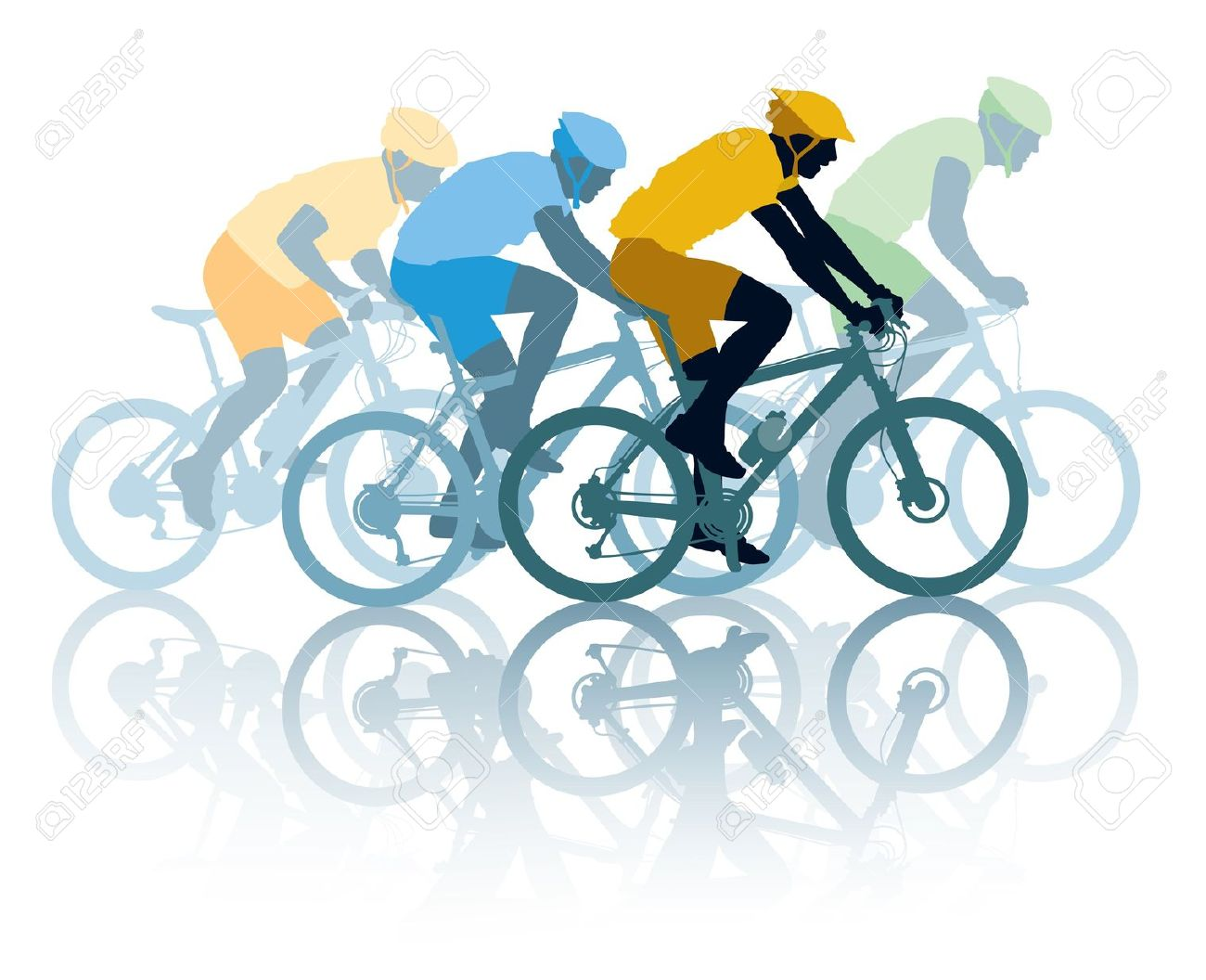 Racing cyclists clipart - Clipground