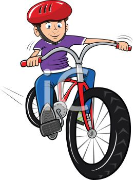 To ride a bike clipart.