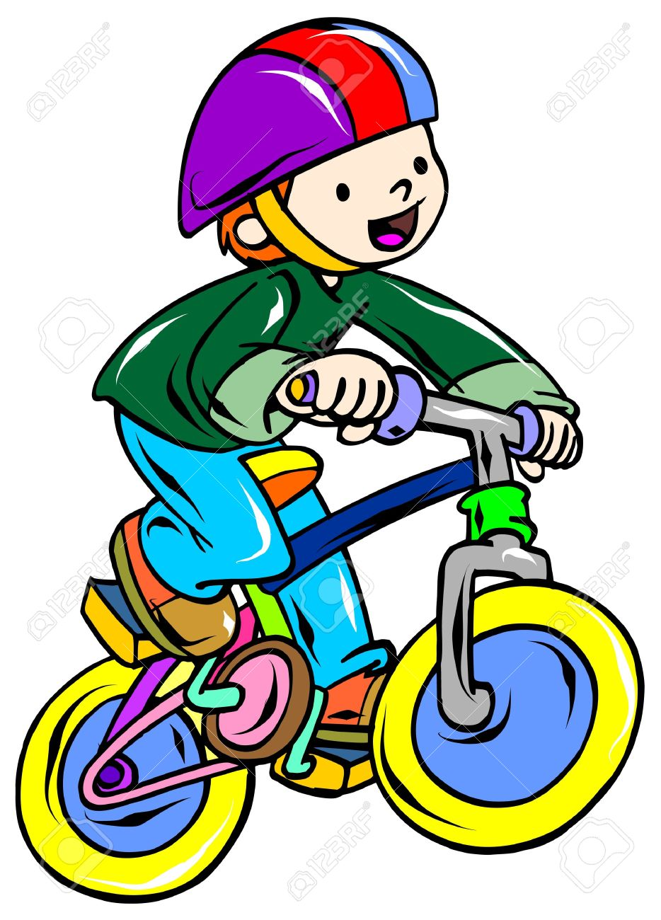 Bicycle riding clipart.