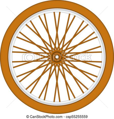 Wooden bicycle wheel.