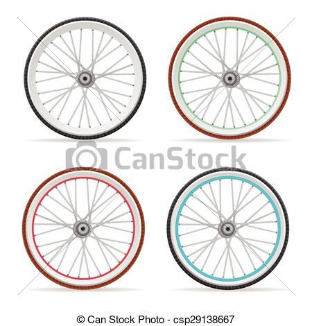 Vector Bicycle wheel set.