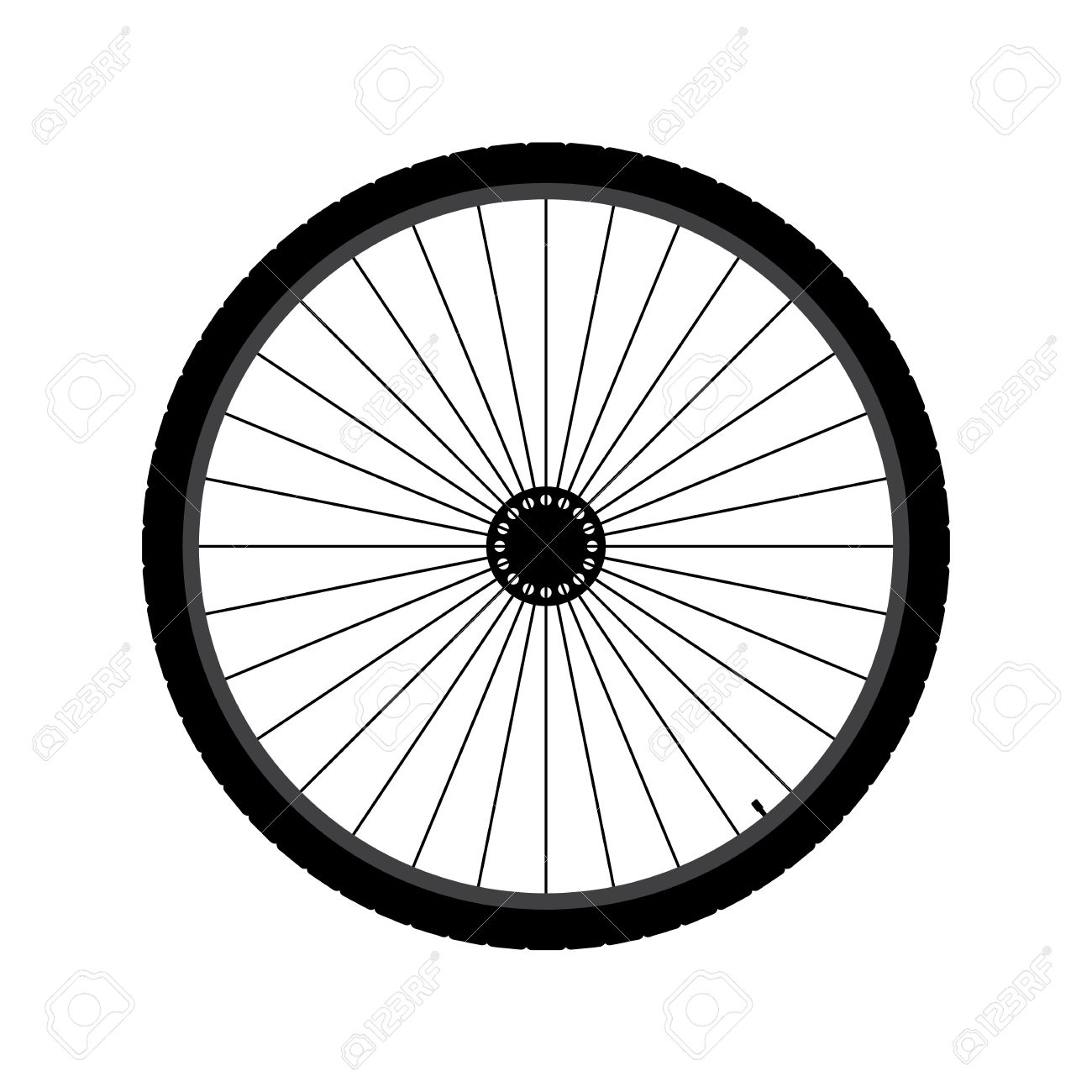 Bicycle wheel Illustration.