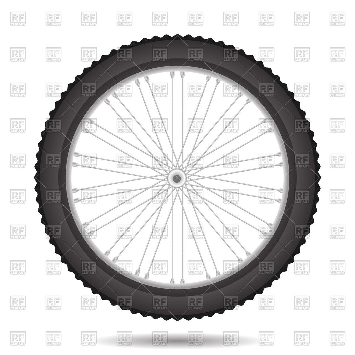Bicycle wheel Stock Vector Image.