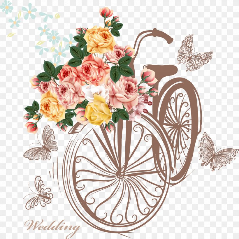 Bicycle Basket Flower Stock Photography, PNG, 1553x1554px.