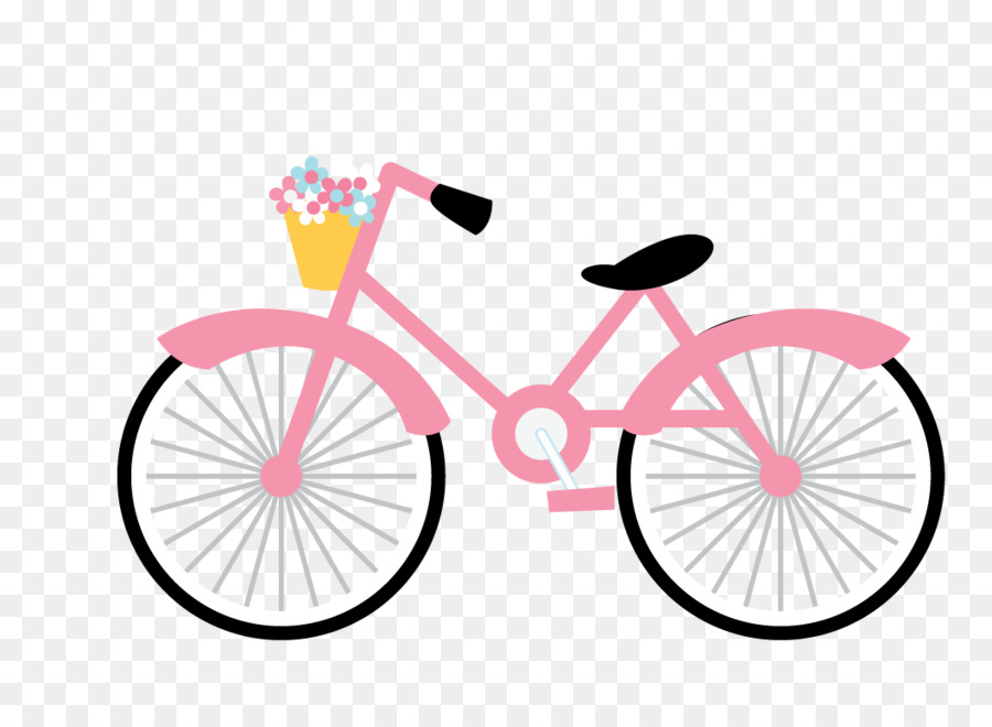 The Pink Bicycle Cycling Clip art.