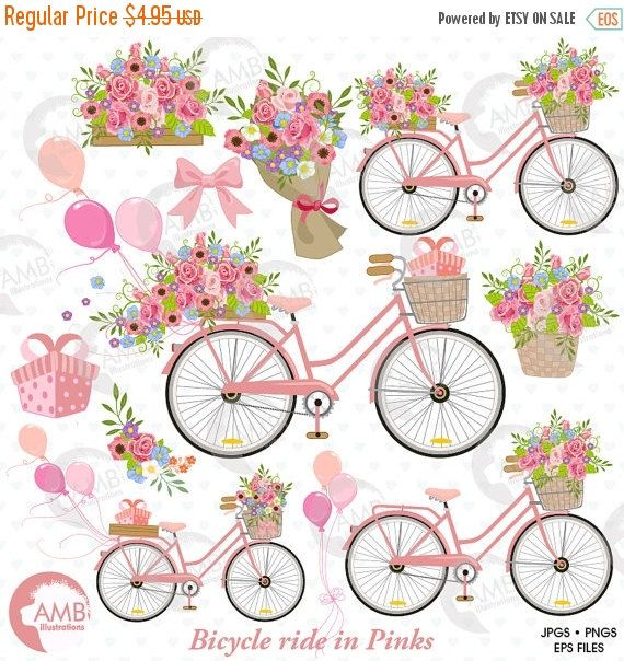 Wedding Bicycle clipart, Bicycle clipart, Bicycle and.