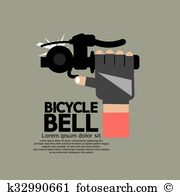 Bicycle bell Clip Art Vector Graphics. 116 bicycle bell EPS.