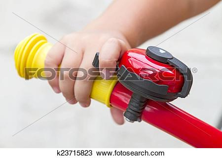 Stock Photo of Child and Bicycle bell k23715823.