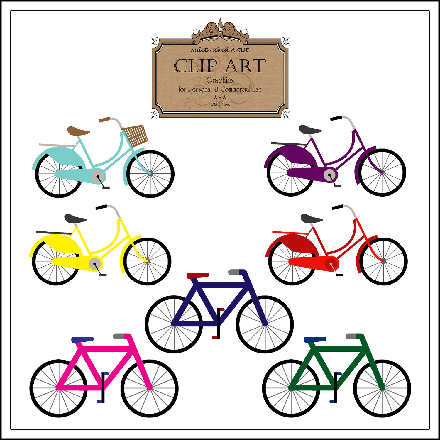 Bicycles Clipart.