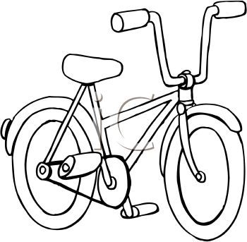 Kids Bicycle Clipart Black And White.