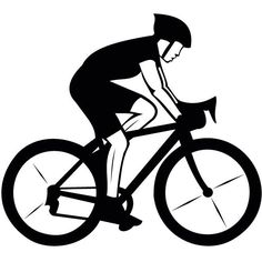 Hurt bicyclist clipart.