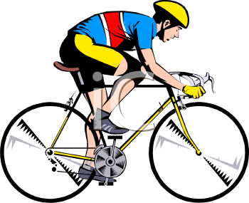 Cyclists clipart #4