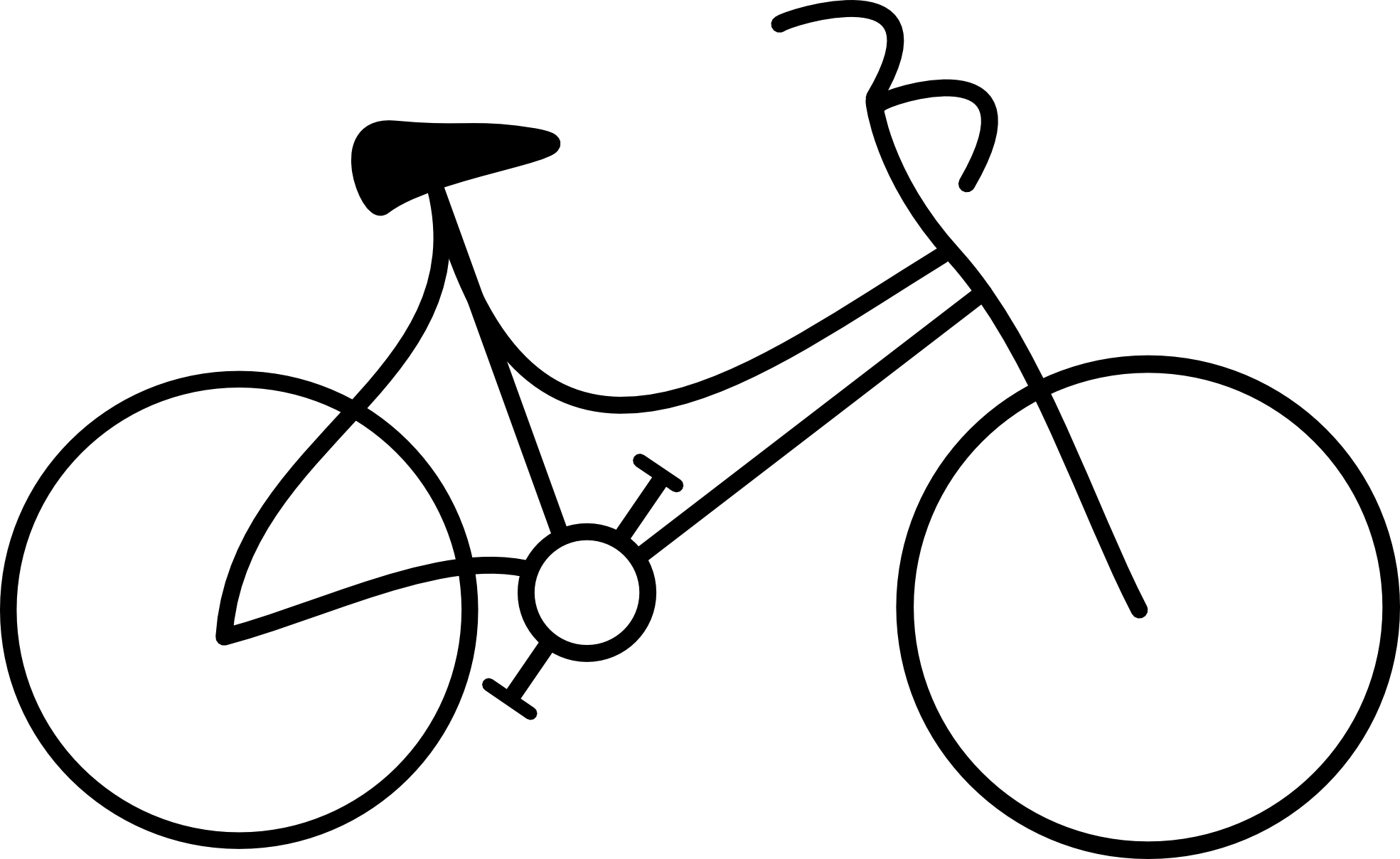 Bike Clipart Black And White.