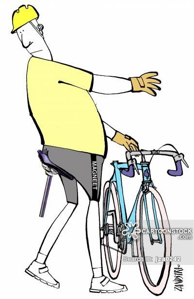 Hurt Bicyclist Clipart.