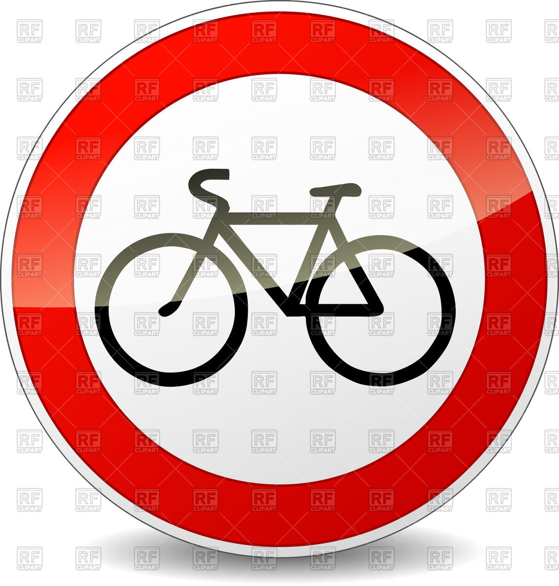 Bicycle road round sign Vector Image #70507.