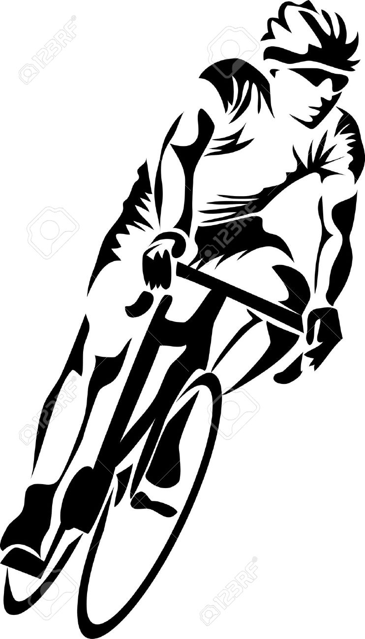 Bicyclist On A Road Clipart 20 Free Cliparts Download