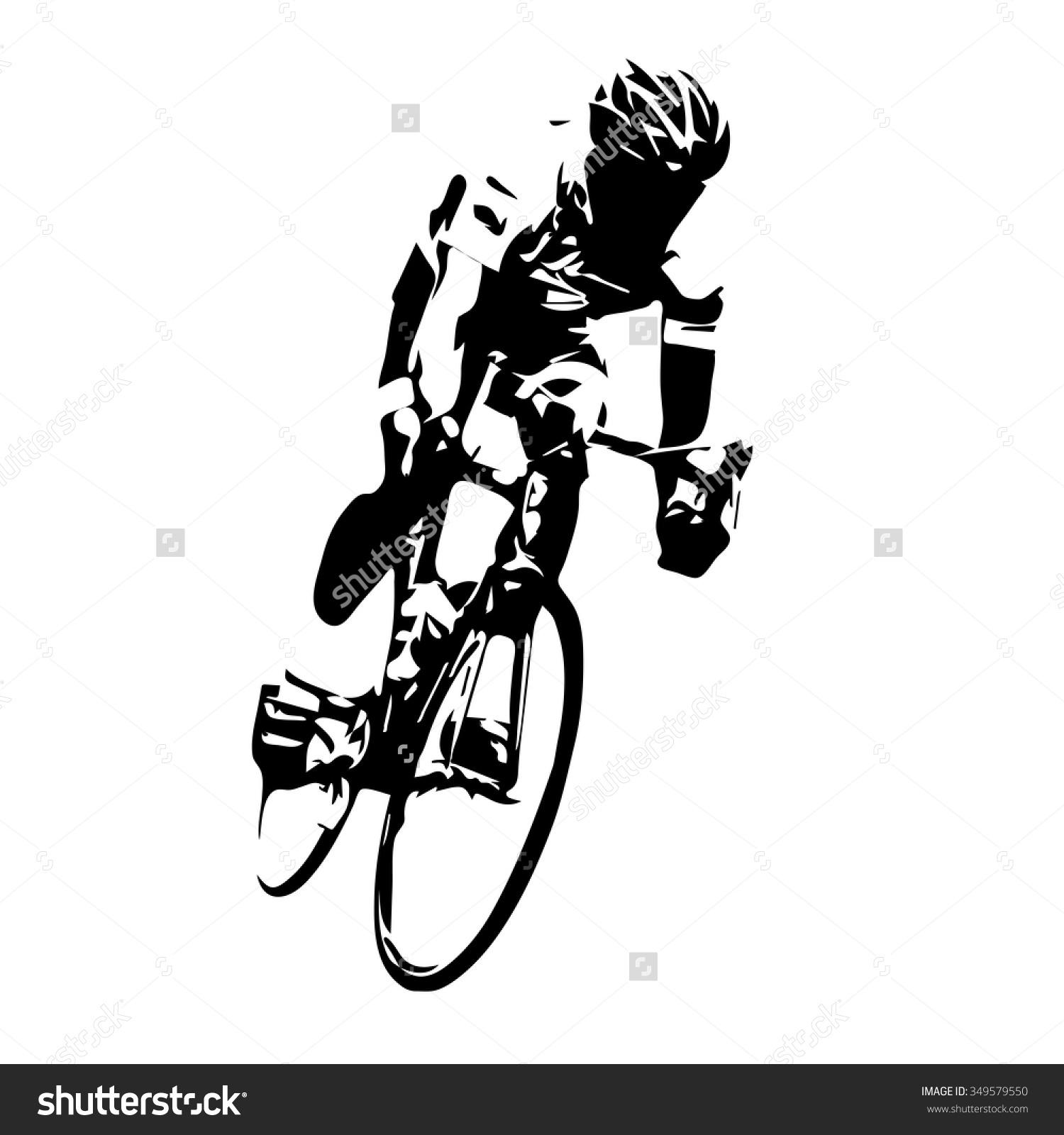 Cyclist Vector Road Cycling Stock Vector 349579550.