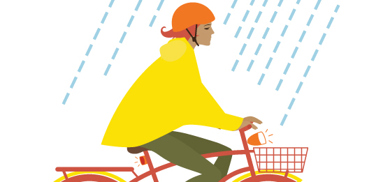 Tips for Wet Weather Cycling.