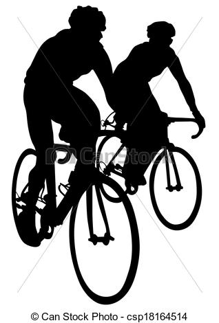 Cyclists clipart - Clipground