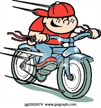 Boy On Bicycle Clipart.