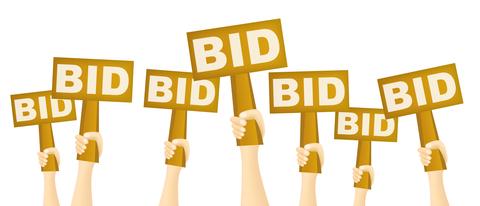 Auction Bidding Clipart.