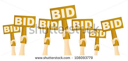 Arm with bidding paddle clipart transparent background.