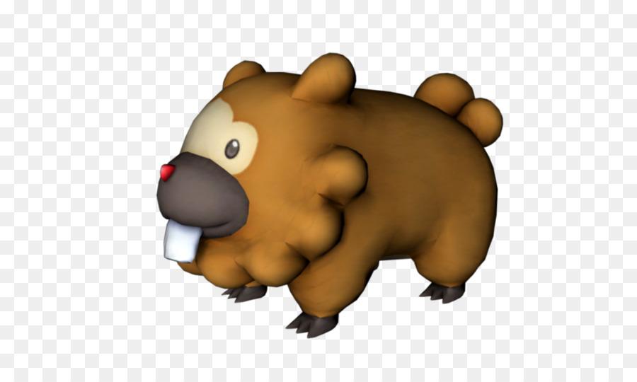 Bidoof Bear png download.
