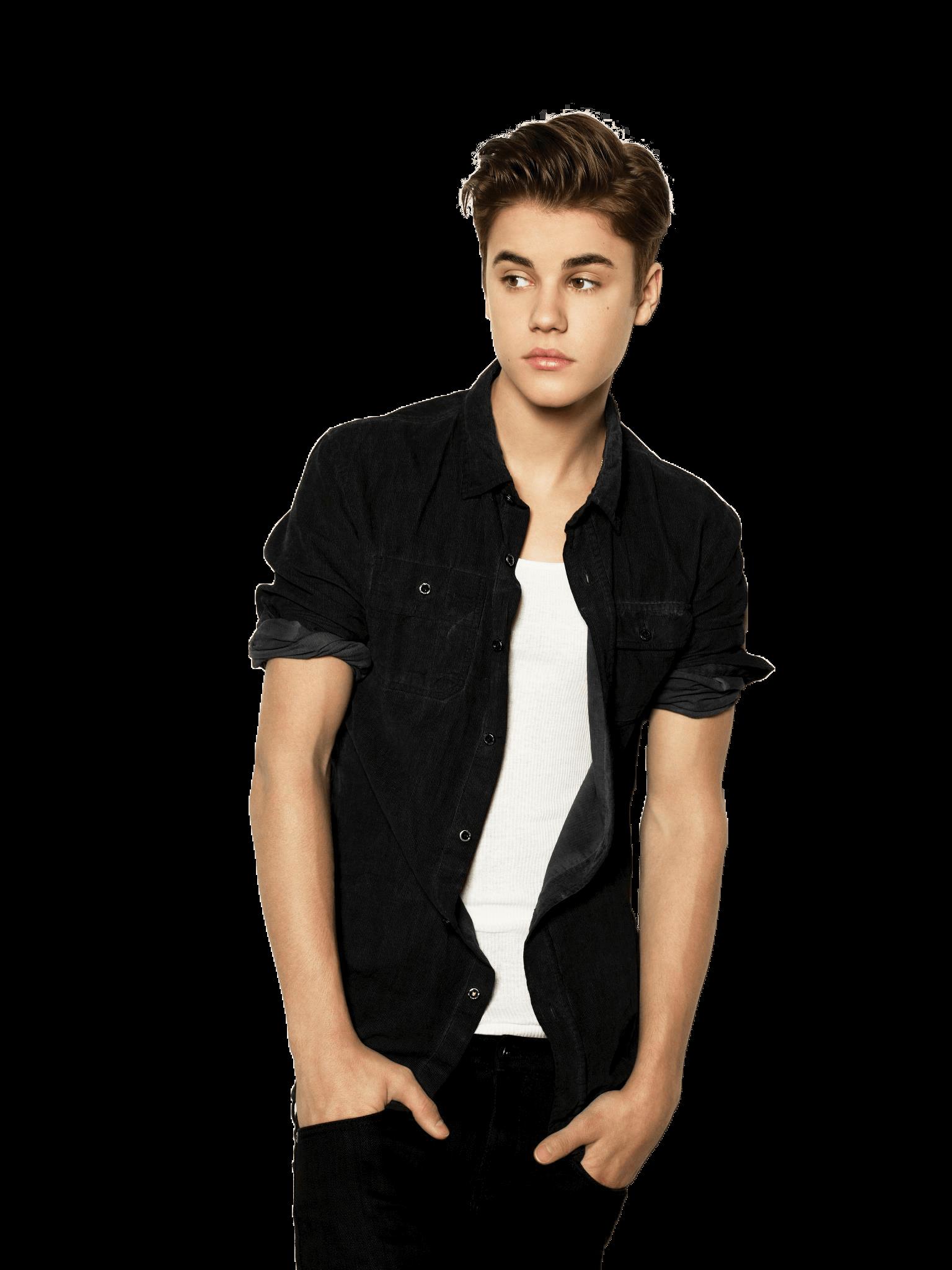 Standing Justin Bieber PNG Image.