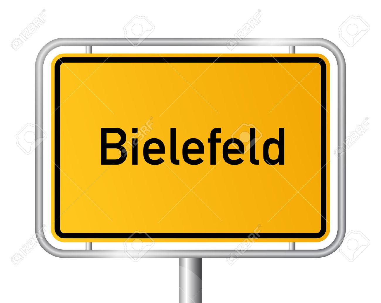 City Limit Sign Bielefeld.