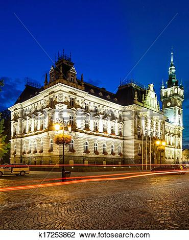 Stock Photo of Town hall in Bielsko.