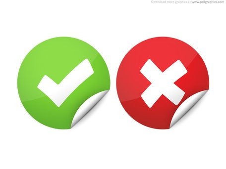 Right and wrong check marks Clipart Picture Free Download.