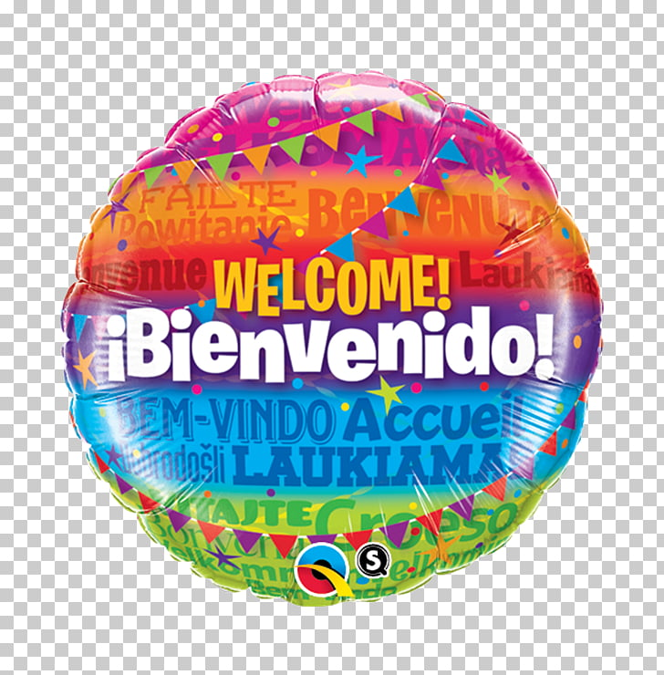 Toy balloon Party Foil Gift, bienvenido PNG clipart.