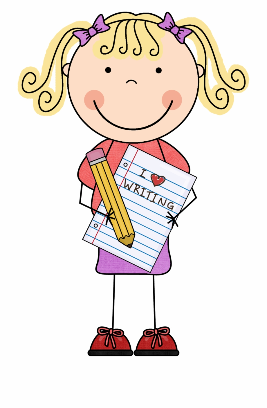 Bienvenido Lectura Welcome Literacy Girl Writing Clipart Png.