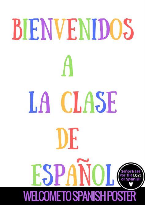 FREE Spanish Poster.