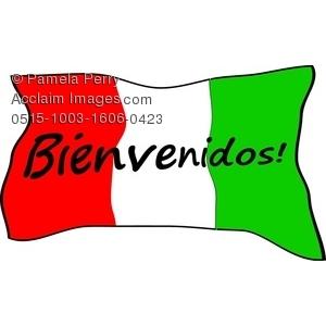 Bienvenidos Clipart Image:.