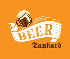 Brauerei Poster MIT Bier Seidel stock.