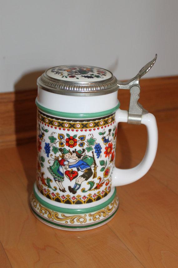 Vintage Original BMF Bierseidel West Germany Beer by CELESTESCHALL.