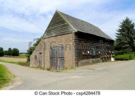 Pictures of A small barn in the Biesbosch National Park, Holland.
