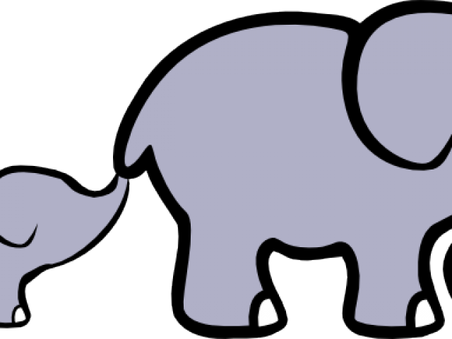 Baby Animal Clipart Big Small Elephant.