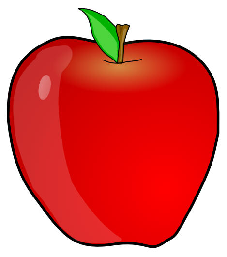 teacher apple clipart free #18