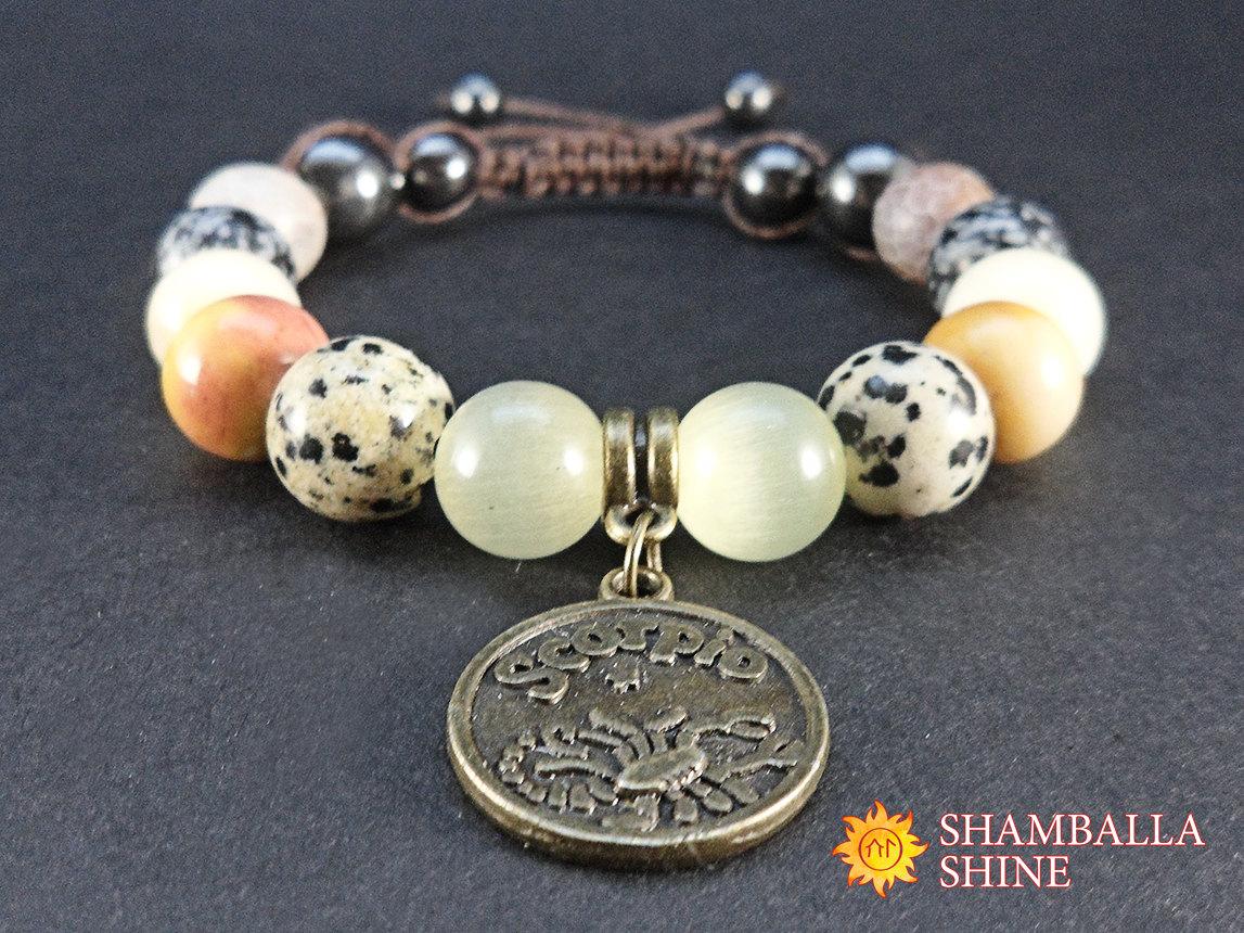 Zodiac bracelets.
