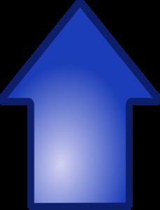 Big Blue Up Arrow Clip Art at Clker.com.