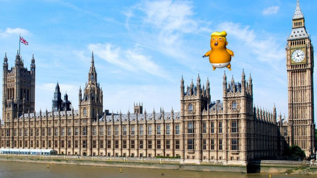 Giant \'Trump Baby\' could fly over London for president\'s.